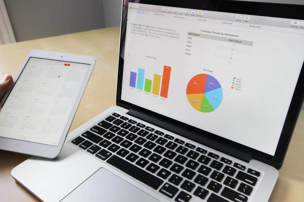 Ordinateur Mac Book, graphique, questionnaire rémunéré, sondage