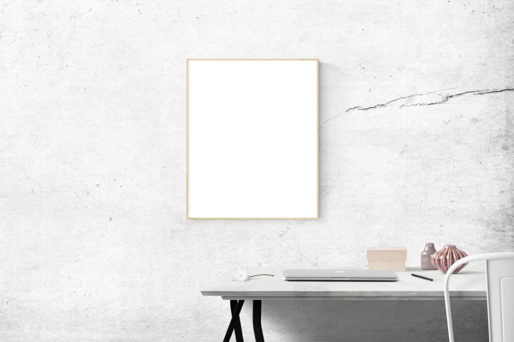 Bureau, mobilier moderne neuf, blanc lumineux