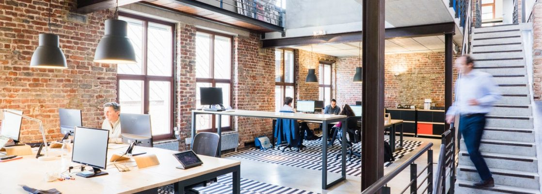 Bureaux en Open Space dans une start-up
