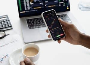 Investissement boursier et graphiques