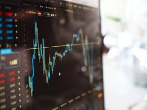 Écran d'ordinateur, trading bourses